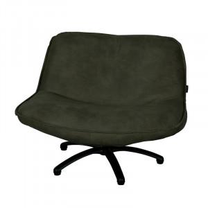 Scaun lounge verde din piele si lemn Forli Mersey LifeStyle Home Collection