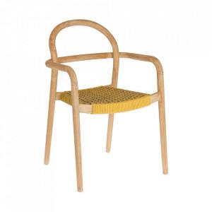 Scaun maro/galben din lemn si sfoara Sheryl La Forma