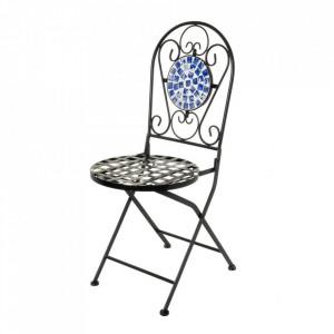 Scaun pliabil multicolor din metal si ceramica pentru exterior Ocean Chair Unimasa
