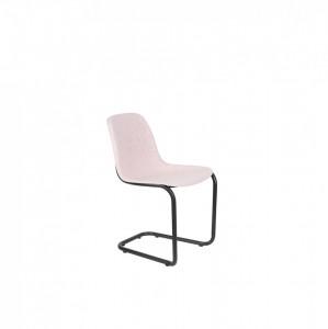 Scaun roz din otel si polietilena Thirtsy Soft Pink Zuiver