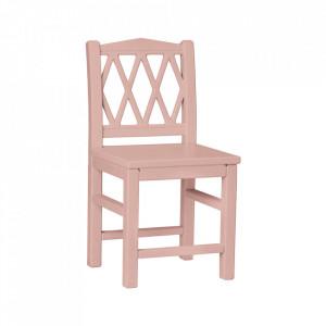 Scaun roz prafuit din MDF si lemn Harlequin Cam Cam