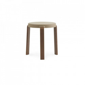 Scaunel rotund bej nisipiu/maro din lemn 35 cm Tap Normann Copenhagen