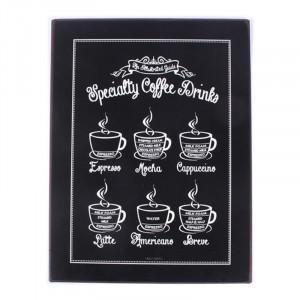 Semn metalic 26,5x35 cm Specialty Coffee Drinks