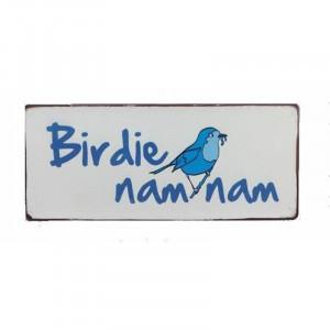 Semn metalic multicolor 13x30,5 cm Birdie Nam Nam