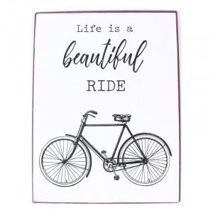 Semn metalic multicolor 26,5x35 cm Life Is A Beautiful Ride