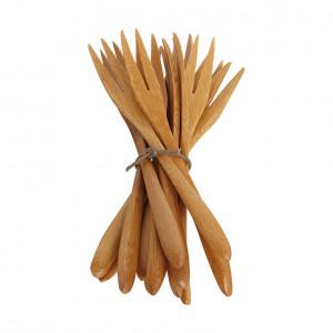 Set 12 furculite maro din lemn de bambus Nature House Doctor