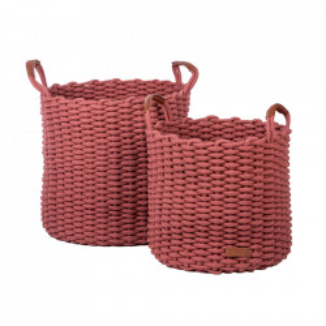 Set 2 cosuri rosu corai din bumbac Korbo Kids Depot