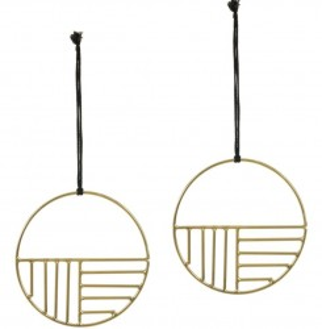 Set 2 decoratiuni suspendabile din metal 10 cm Xanthe Circular Kave Home