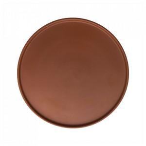 Set 2 farfurii intinse maro caramel din portelan 26 cm Inka Oyoy