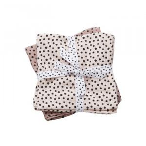 Set 2 paturi roz din bumbac pentru copii 120x120 cm Dots Powder Done by Deer