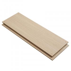Set 2 rafturi maro din lemn de stejar Elevate E Woud