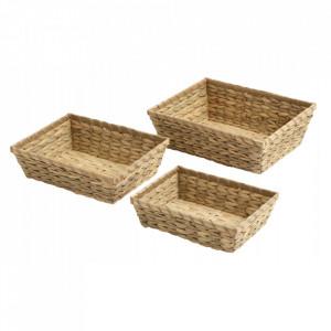 Set 3 cosuri maro din bambus Grape Nordal