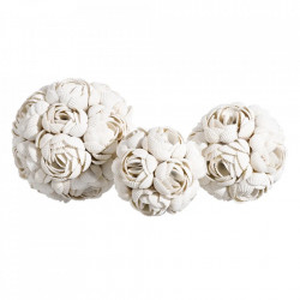 Set 3 decoratiuni albe din sidef Masia Ixia
