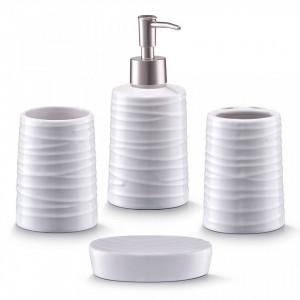 Set 4 accesorii baie din ceramica Bath Accessory Zeller