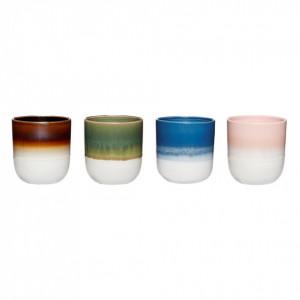 Set 4 cesti multicolore din ceramica Fedora Hubsch
