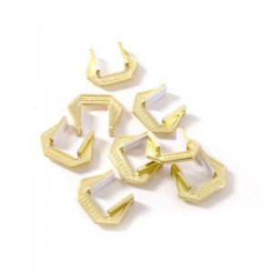 Set 8 cleme aurii din metal Alan Seletti