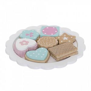 Set de joaca 8 piese din lemn de lotus Cookies Bloomingville