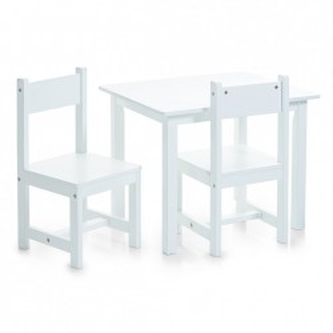 Set masuta si 2 scaune din MDF pentru copii Joy Zeller