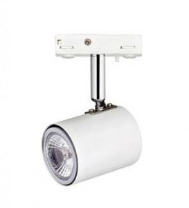 Spot alb/argintiu din plastic si metal cu LED Track Markslojd