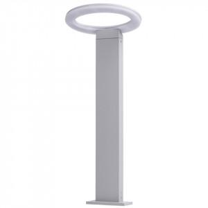 Stalp de iluminat argintiu din metal cu LED pentru exterior 60 cm Mercury MW Glasberg