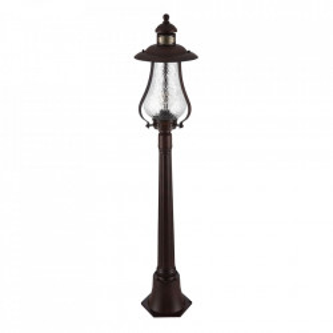 Stalp de iluminat maro din metal si sticla pentru exterior 119,9 cm Rambla Maytoni