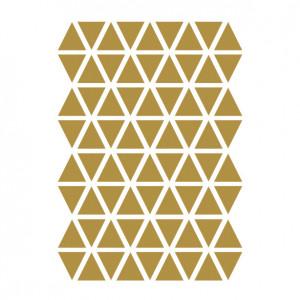Sticker pentru perete maro alama din vinil Mini Triangles Ferm Living