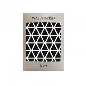 Sticker pentru perete Mini Triangles negru Ferm Living