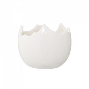 Suport alb din ceramica pentru lumanare 7,5 cm Ivio Bloomingville