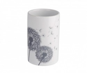 Suport alb din ceramica pentru periute 7 cm Astera Wenko