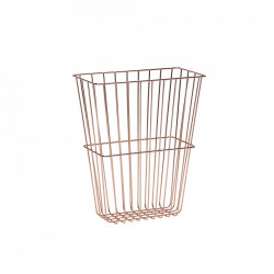 Suport aramiu din metal pentru reviste Copper Basket Hubsch