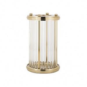 Suport auriu din aluminiu si sticla pentru lumanare 34 cm Earlson Richmond Interiors