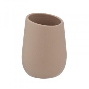 Suport bej nisipiu din ceramica pentru periuta dinti 8x11 cm Badi Wenko