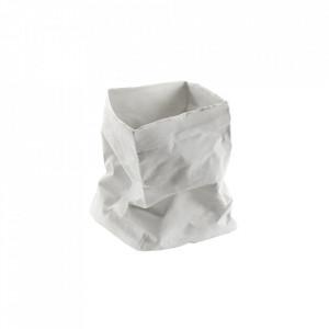 Suport lumanare alb din portelan 15 cm Paperbag Serax