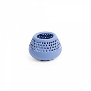 Suport lumanare albastru din ceramica 8 cm Lonnie La Forma