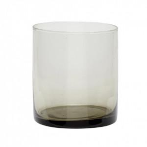 Suport lumanare din sticla 10 cm Smoked Alessa Hubsch