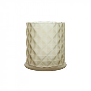 Suport lumanare grej din sticla 12 cm Moswen Lifestyle Home Collection