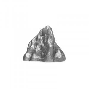 Suport lumanare gri din aluminiu 4 cm Stone Ferm Living