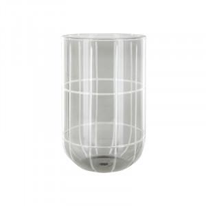 Suport lumanare gri din sticla 20 cm Levon Lifestyle Home Collection