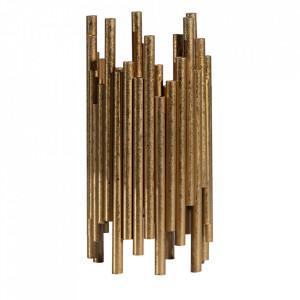 Suport lumanare maro alama din fier 24 cm Uneven Be Pure Home