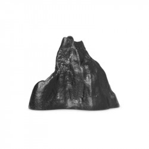 Suport lumanare negru din aluminiu 4 cm Stone Ferm Living