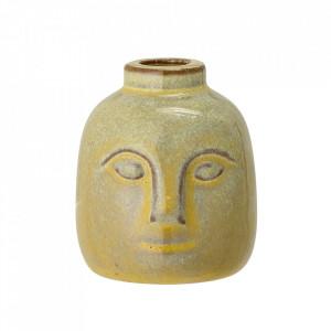 Suport lumanare verde din ceramica 9 cm Emiel Bloomingville