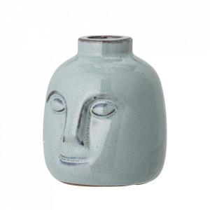 Suport lumanare verde din ceramica 9 cm Face Bloomingville