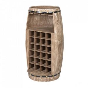 Suport maro din lemn de brad pentru sticle de vin Bodega Invicta Interior