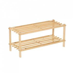 Suport maro din lemn pentru incaltaminte Simple Shoerack Fir Unimasa