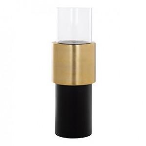 Suport negru/auriu din aluminiu si sticla pentru lumanare 100 cm Osmin Richmond Interiors