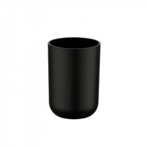 Suport negru din elastomer termoplastic pentru periuta dinti 7,3x10,3 cm Brasil Wenko