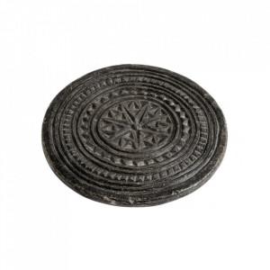 Suport negru din piatra pentru vase fierbinti Indian Bread Nordal