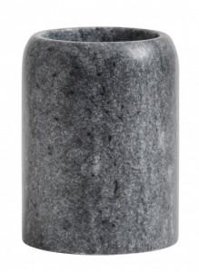 Suport negru/gri din marmura 7,6x10 cm pentru periuta dinti Toothbrush Mug Nordal