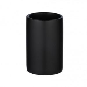 Suport negru mat din ceramica pentru periuta dinti 7x11 cm Polaris Wenko