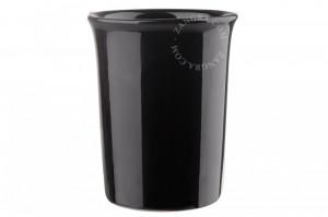 Suport negru pentru periute dinti din ceramica 9 cm Esteban Black Zangra